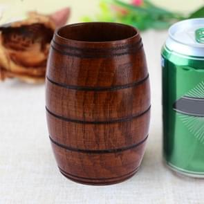 Wood Cup Natural Classical Handcrafted Big Belly Beer Coffee Milk Juice Tea Cup, Size:11x6cm