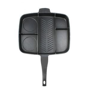 Multi-Layer Flat Frying Pan Multi-Function Black Square Baking Tray, Sheet Size:40x38x5cm
