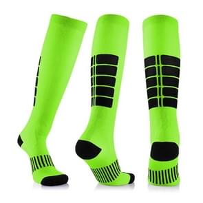 Unisex Sports Stockings Running Cycling Socks Compression Socks, Color:Green, Size:S / M
