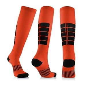 Unisex Sports Stockings Running Cycling Socks Compression Socks, Color:Orange, Size:S / M