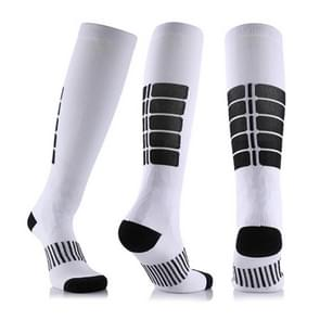 Unisex Sports Stockings Running Cycling Socks Compression Socks, Color:White, Size:L / XL