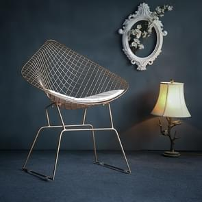 Nordic Modern Minimalist Casual Hollow Wire Creative Personality Dining Chair(Gold)