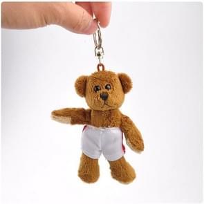 3 PCS Bear Plush Pendant Toy Doll Mini Clamshell Doll Plush Keychain(Bear)