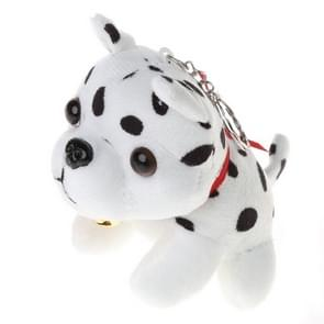 Plush Puppy Pendant Keychain Spotty Dog Stuffed Animal Cute Keyring(Spot)