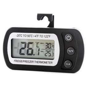 2 PCS Digital LCD Thermometer Fridge Temperature Sensor Freezer Thermometer(Black)
