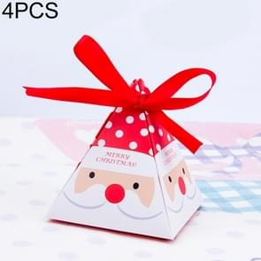 4 PCS Christmas Candy Boxes Small Candy Tray(Red Santa Claus (Without Tag))