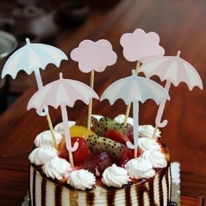 3 sets paraplu kaart ingevoegd taart dessert tabel inrichting partij decoratie
