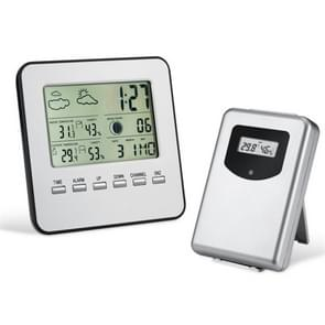 Draadloze binnen- en buitentemperatuur en vochtigheidsmeter wekker