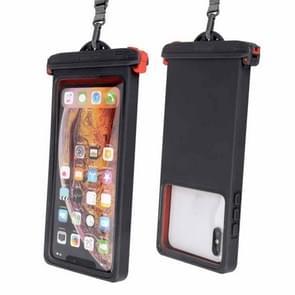 Voor smartphones onder 6 9 inch IPX8 waterproof telefoonhoesje (zwart)
