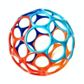 Grote rammelaars ontwikkelen baby intelligentie grijpen tandvlees Wave bal hand Bell leuke beet catch hole kinderen speelgoed  willekeurige kleur (OPO bal 50 g)