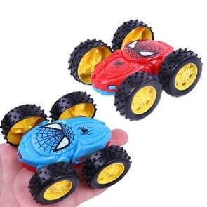 3 PCS Children's Inertial Double-dump Truck Model Resistant to Falling Toy Car Steering Car Gift Stall Toy Random Color(Random Color)