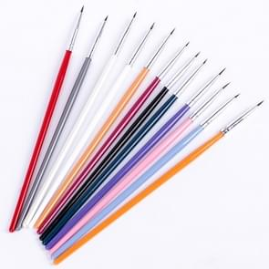 Colorful Nail Art Liner Thin Painting Brush Design Dotting Pen Acrylic Fine Tips Drawing Lines Flower Tool