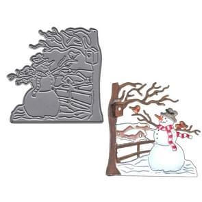 Snowman Carbon Steel Knife Mold DIY Photo Album Cutting Book Greeting Card Making Mold