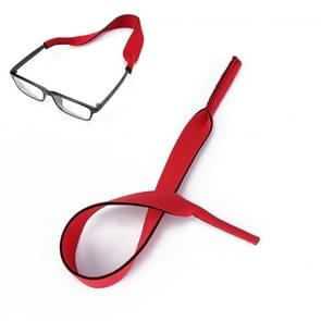 2 PCS Neopreen Duik zwembril Band Zonnebril Sponge Rope (Rood)