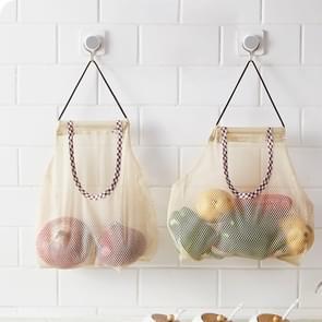 2 PCS Creative Kitchen Vegetable Onion Potato Storage Hanging Bag Hollow Breathable Mesh Bag Kitchen Garlic Ginger Mesh Storage Bag