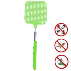 Creatieve intrekbare plastic vliegenwatter zomer levert Mosquito Swatter (Groen)