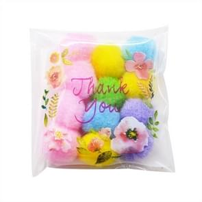 10 Packs Rose Baking Packaging Self-adhesive Bag Mooncake Cookies Snack Bag, Size:14x14+3cm
