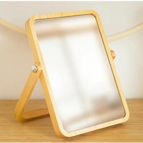 Wood Bathroom Accessories Standable Desktop Decoration  Dresser Mirror