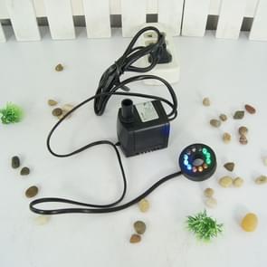Kleine water pomp aquarium fontein met 4 gekleurde LED-lampjes
