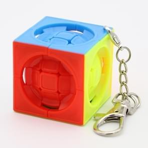 Mini sleutelhanger gevormde derde-georiënteerde Rubik kubus kinderen educatief speelgoed