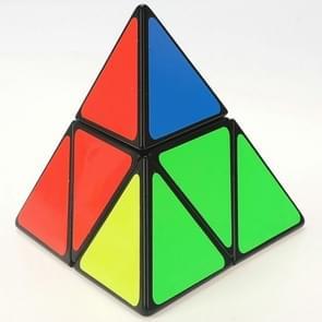 Creatief gevormde tweede-orde driehoekige tetraëder Rubik kubus kinderen educatief speelgoed (zwart)