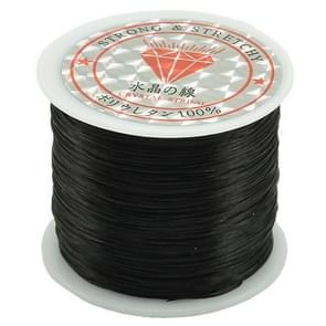 50m/bag 0.5mm Round Elastic Cord Beading Stretch Thread/String/Rope for Necklace Bracelet Jewelry Making(black)