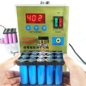 SUKKO LED Pulse batterij ter plaatse lasser + puntlassen machine micro-computer micro lassen met LED licht + batterij klem, 220V EU plug