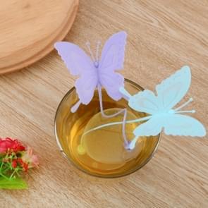 Siliconen thee maker Butterfly thee lek willekeurige kleur levering