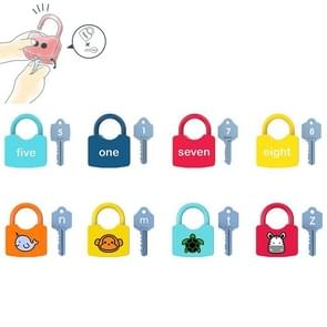 8 PCS Kinderen Alphanumeric en Number Matching Lock Early Educational Toys  Random Style Delivery