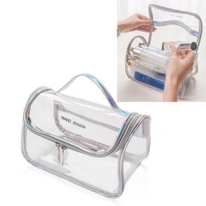 Reizen cosmetische tas creatieve multifunctionele waszak  stijl: cosmetische tas (Zilvergrijs)