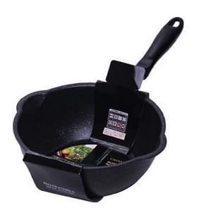 Dikke Bodem Maifan Stone Huishouden Kleine Koekenpan Anti-stick Pan Frituurpan  Kleur:20cm Zwart zonder cover