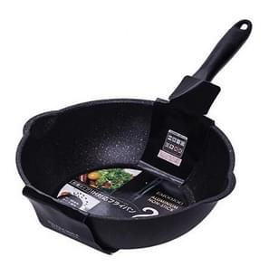Dikke Bodem Maifan Stone Huishouden Kleine Koekenpan Anti-stick Pan Frituurpan  Kleur:26cm Zwart zonder cover