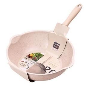 Dikke Bodem Maifan Stone Huishouden Kleine Koekenpan Non Stick Pan Diep koekenpan  kleur: 26cm Beige zonder cover