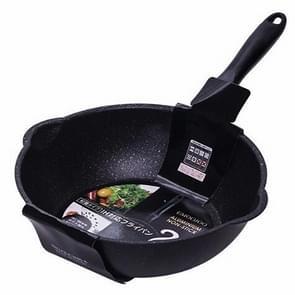 Dikke Bodem Maifan Stone Huishouden Kleine Koekenpan Anti-stick Pan Frituurpan  Kleur: 28cm Zwart zonder cover