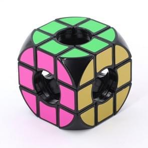 3 stuks Arc hoek holle Third-order kubus kinderen leuk educatief speelgoed (zwart)