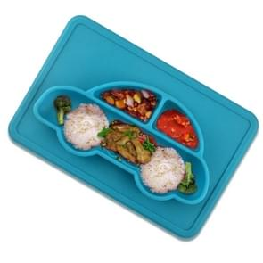 3 PCS Integrated Child Food Grade Silicone Square Car Plate(Blue)
