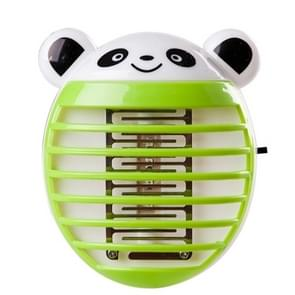 Cute Household Mosquito Killer Lamp LED Light Anti Mosquito Bug Zapper Insect Muggen Killer Night Light Colorful EU Plug(Green)