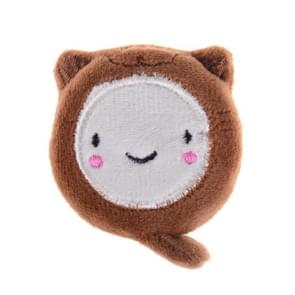 150cm Cute Retractable Tape Measure Ruler Sewing Tool Tape Measures Cute Cartoon Plush(Brown)