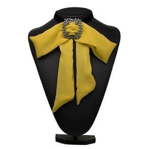 Satijn chiffon Bow tie vrouwen shirt kraag accessoire (geel)