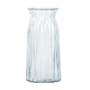 Gecontracteerde transparante glazen vaas origami bloemschikken planten huishoudelijke desktop inrichting artikelen  grootte: groot (transparant)