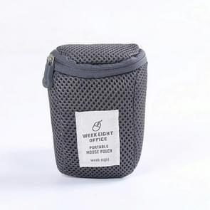 2 PCS Mouse Storage Bag Travel Portable Shockproof Digital Protective Case(Grey)