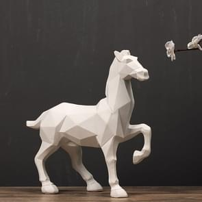 Modern Abstract White Horse Statue Resin Ornaments Home Decoration