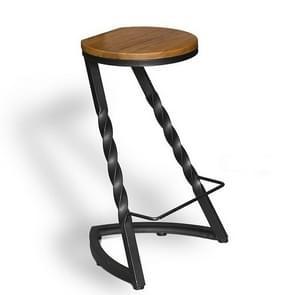 Modern Minimalist Fashion Wrought Iron Wood Home Creative High Bar Chair(No Backrest)