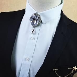 Metalen mozaïek Diamond Bow tie voor mannen (13 witte diamanten)