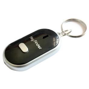 Mini LED fluitje Key Finder knippert piepen op afstand verloren Keyfinder Locator sleutelhanger voor kinderen (zwart)