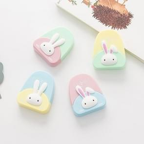 XZD007 2PCS Cute Cartoon Creative Rabbit Pattern Correction Tape School Supplies Student Stationery, Random Color Delivery