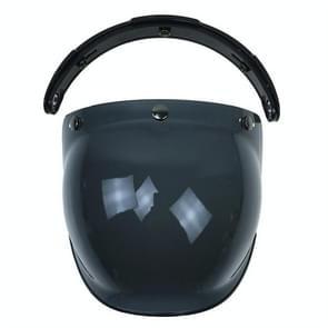 Bubble visor quality open face motorcycle helmet visor 10 colors available vintage helmet windshield shield unit size(Dark Smoke)