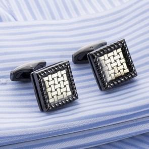 Luxury British woven pattern cufflinks French dress dress cuffs
