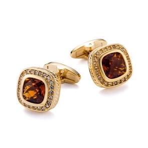 Fashion Gold Plating Rhinestone Cufflings