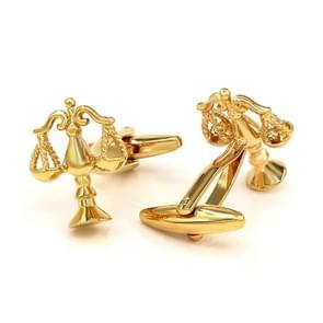 SAVOYSHI Golden Libra Cufflinks Men's French Cuffs